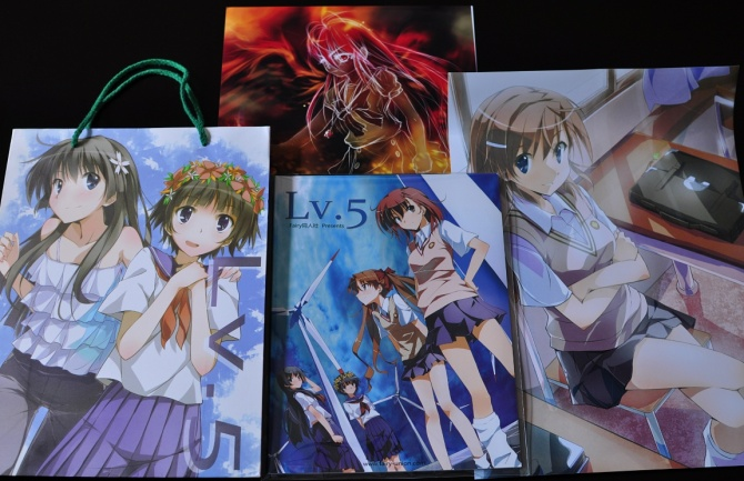 Lv.5 doujinshi+omake pack by Fairy Union (bottom)Shana artwork by Zelas (top)